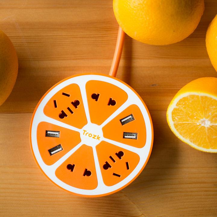 创意8插位柠檬USB充电器图片