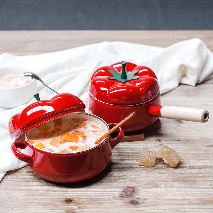 树可·珐琅超萌番茄锅 图片
