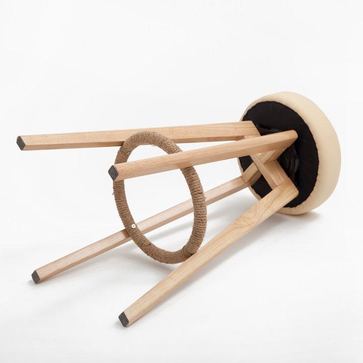简世·现代实木吧椅图片