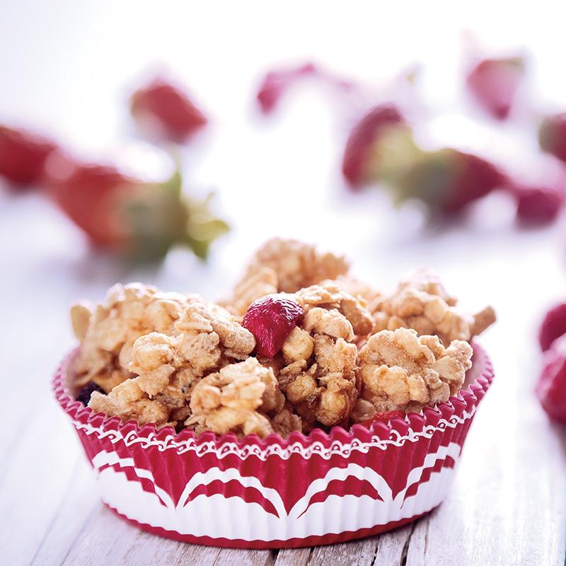 原装进口三特混合水果浆果干吃脆燕麦片免煮即食谷物营养早餐食品