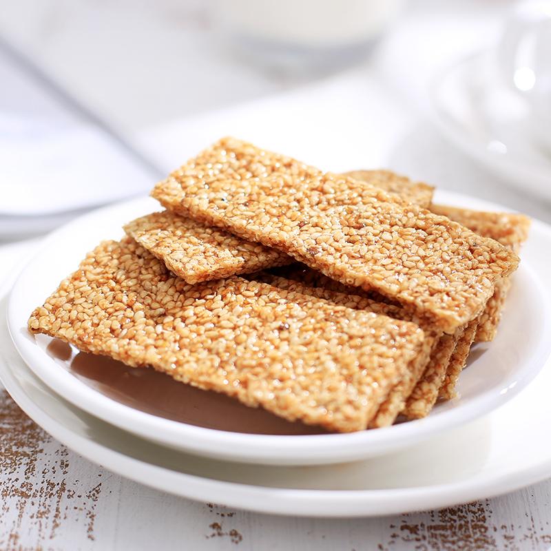 河南开封特产手工黑白芝麻片350g 芝麻酥糖糕点芝麻饼