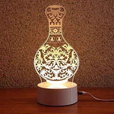夜灯还原了瓷器的形状与花纹,每款都经过设计师的仔细雕琢.